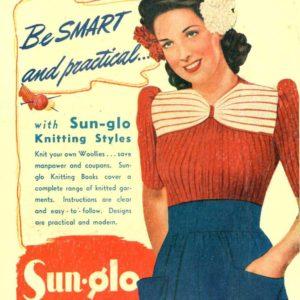Aloha vintage knitting pattern 1940s