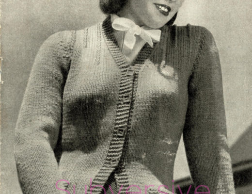 free vintage knitting patterns 1940s