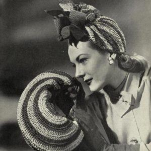 1940s crochet turban carmen miranda