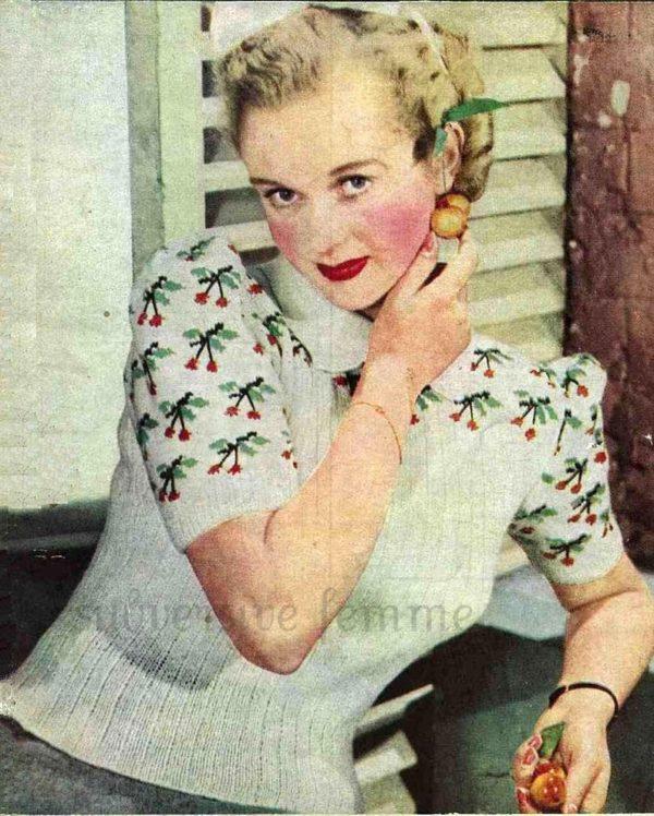Cherry jumper knitting pattern