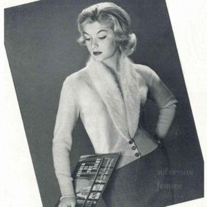 pinup cardigan rockabilly knitting pattern