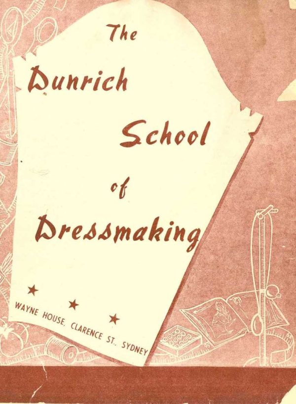 1940s hilhouse mansfield dressmaking dunrich school pattern making