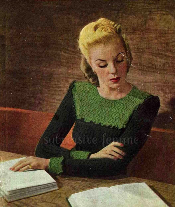 vintage knitting pattern frilled