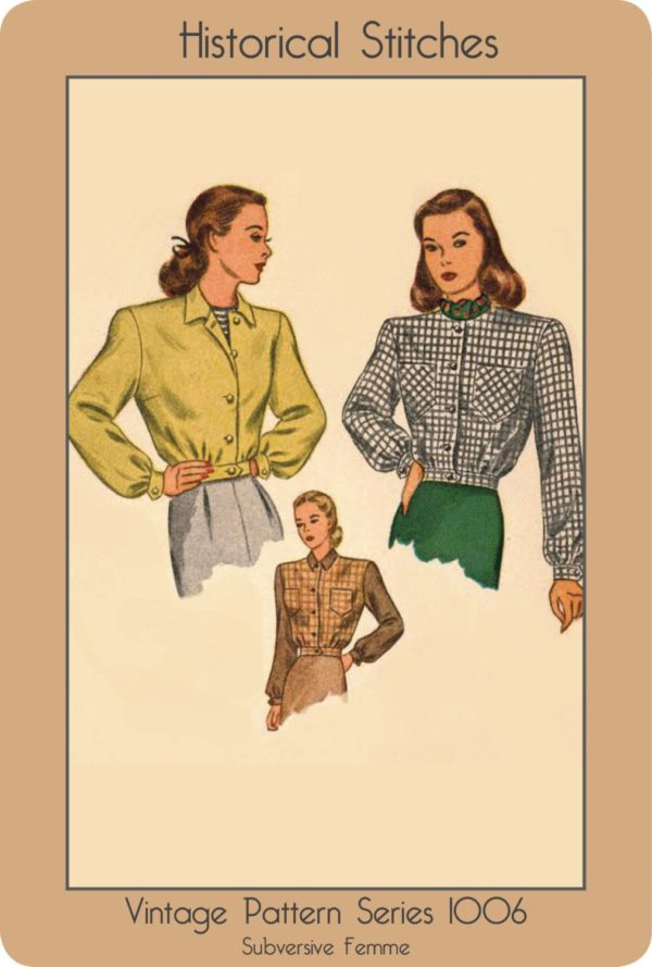 vintage lumber eisenhower jacket sewing pattern 1940s