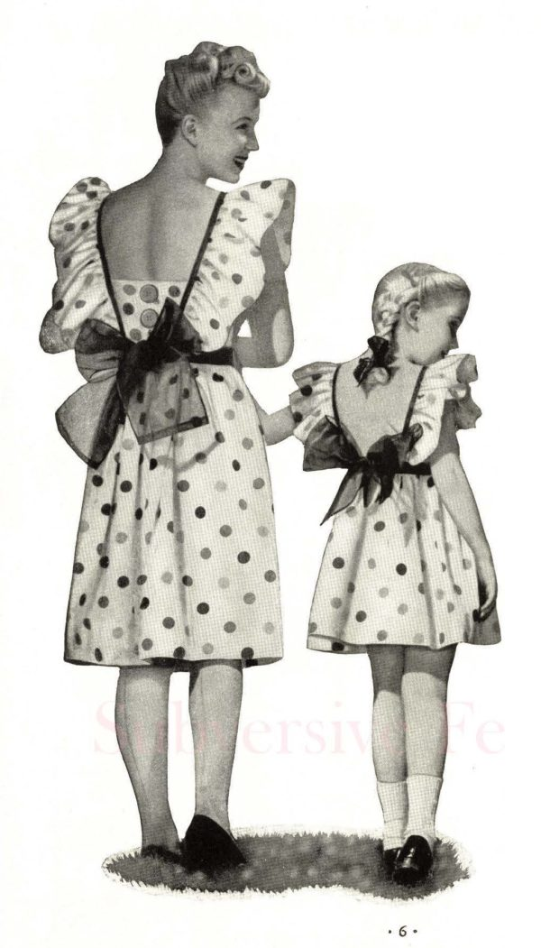 mother daughter fashions 1940s