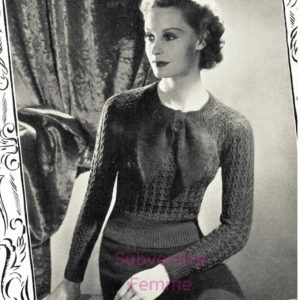 stitchcraft magazine vintage knitting patterns lace jumper