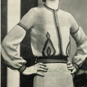 vintage russian jumper 1930s 1920s knitting pattern