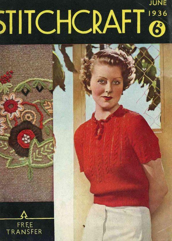 1930s stitchcraft magazine art deco vintage knitting patterns