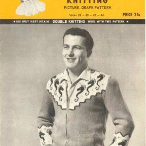 seahorse mary maxim knitting pattern 1950s