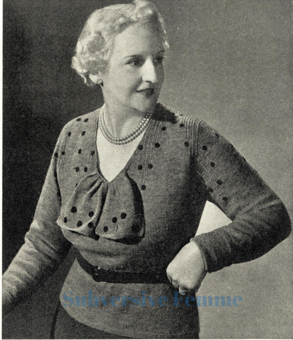 free vintage knitting patterns subversive femme