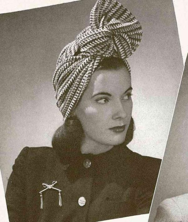1940s turban carmen miranda crochet knitting vintage patterns