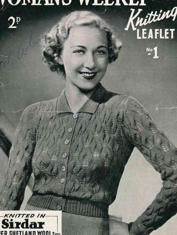 womans weekly knitting patterns vintage 1930s