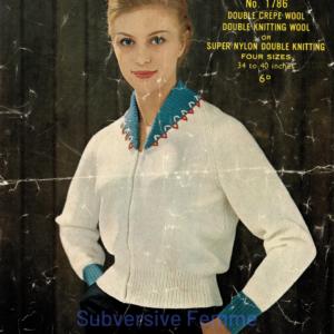sirdar 1401 cardigan knitting pattern vintage