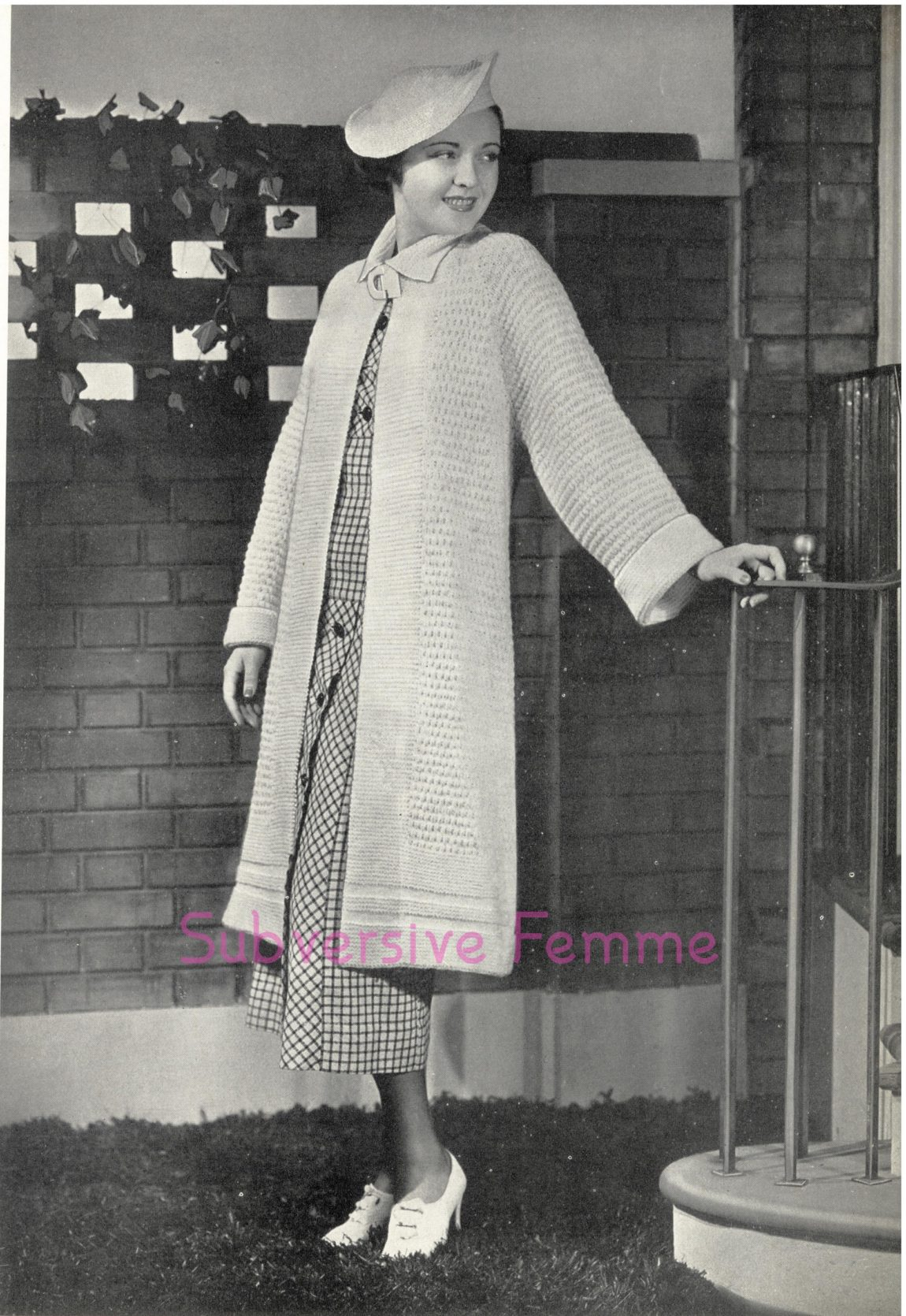free vintage knitting patterns 1930s swagger coat