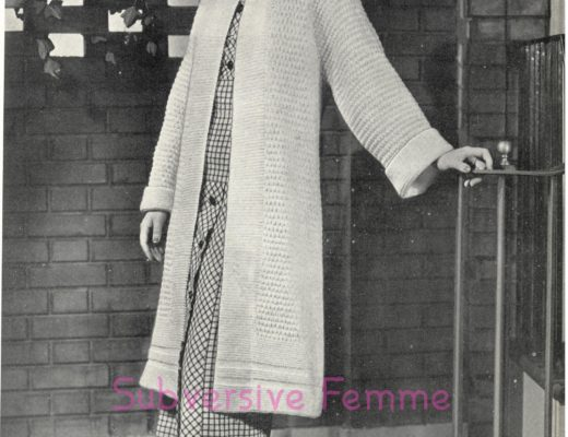 Subversive Femme Knitting Sewing And A Vintage Life