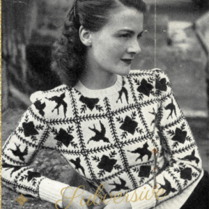 1940s knitting patterns vintage free womens sweater jumper