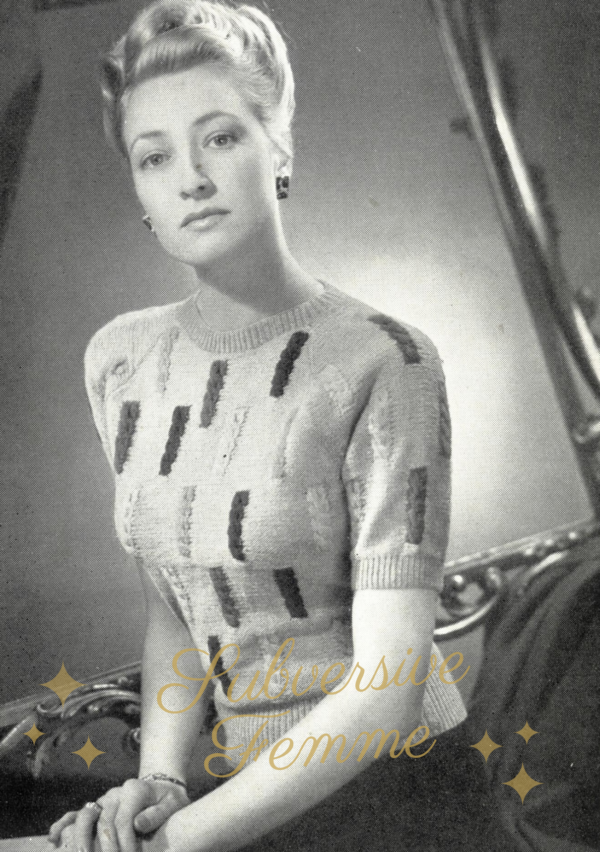 stitchcraft magazine 1940s knitting pattern