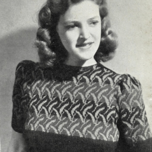 1940s three colour leaves fair isle stitchcraft magazine knitting pattern