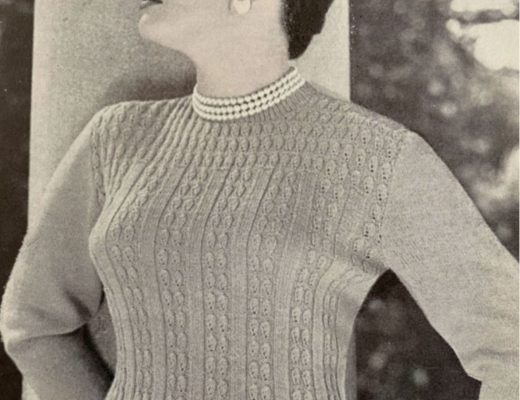 1950s vintage knitting pattern 1950s sweater vintage reproduction
