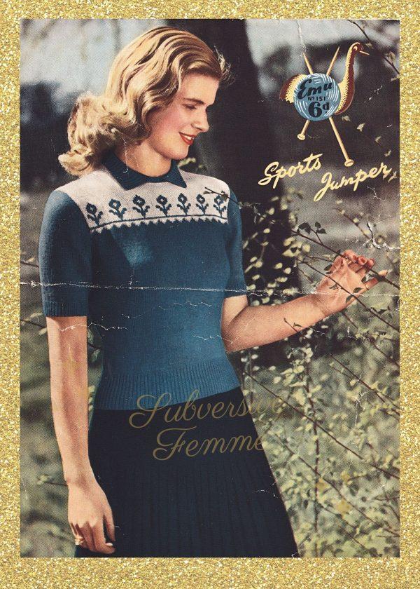 vintage knitting patterns 1940s