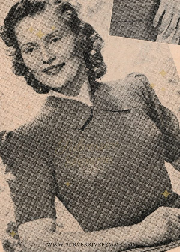 vintage knitting patterns 1940s