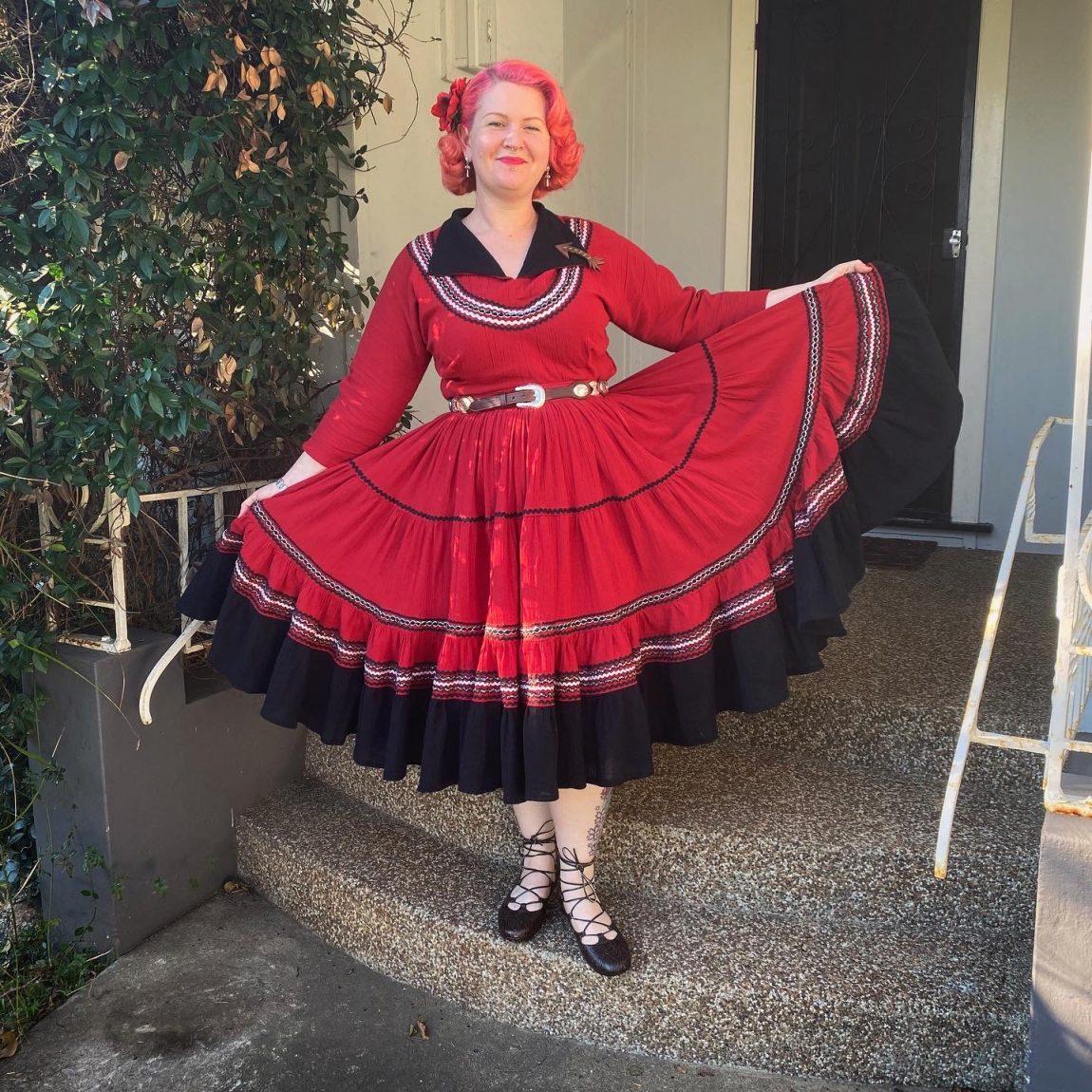 gertie jiffy dresses book patio dress red vintage 1950s fiesta dress