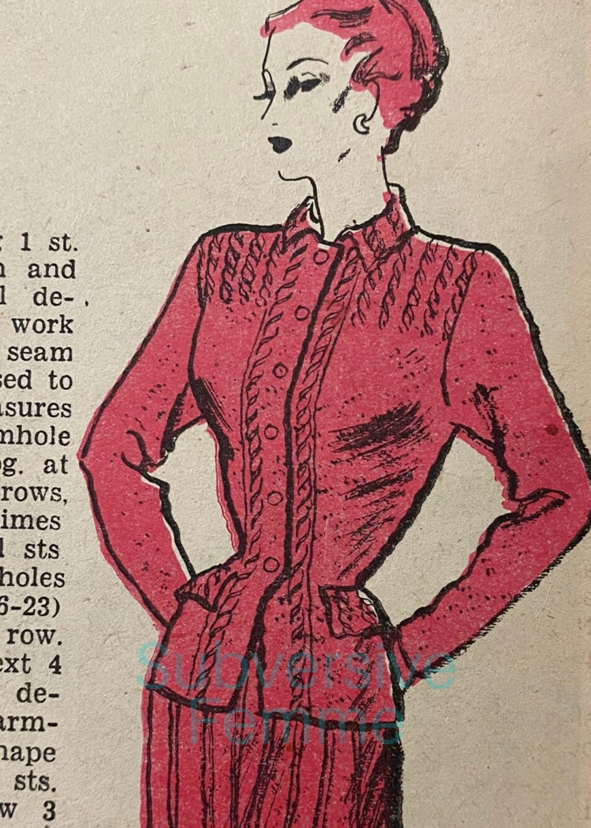 1940s knitting patterns suit womens weekly