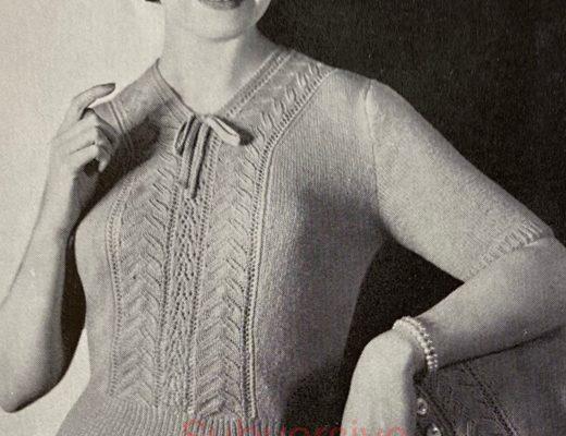 vintage knitting patterns 1950s