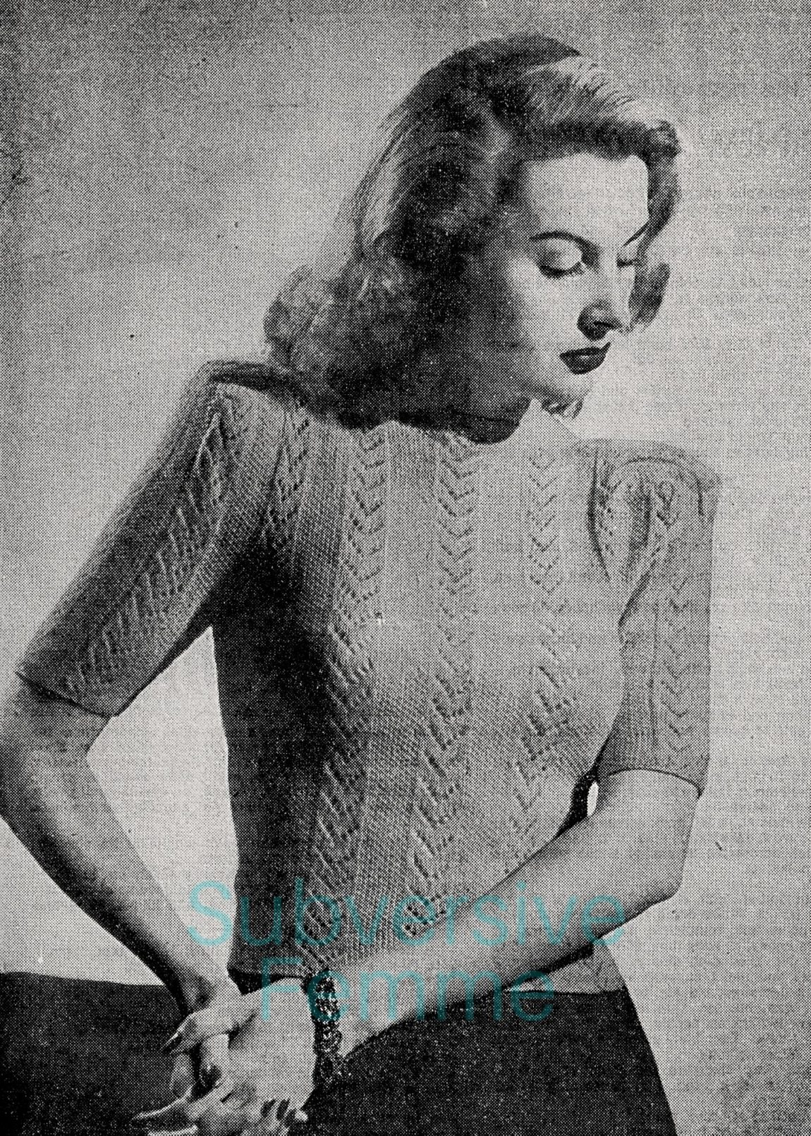 vintage knitting patterns 1940s vintage knitting pattern lady