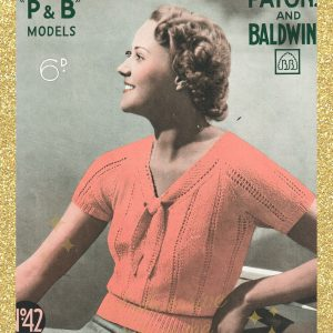 vintage knitting patterns 1930s womens