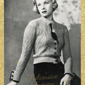 vintage knitting patterns 1930s