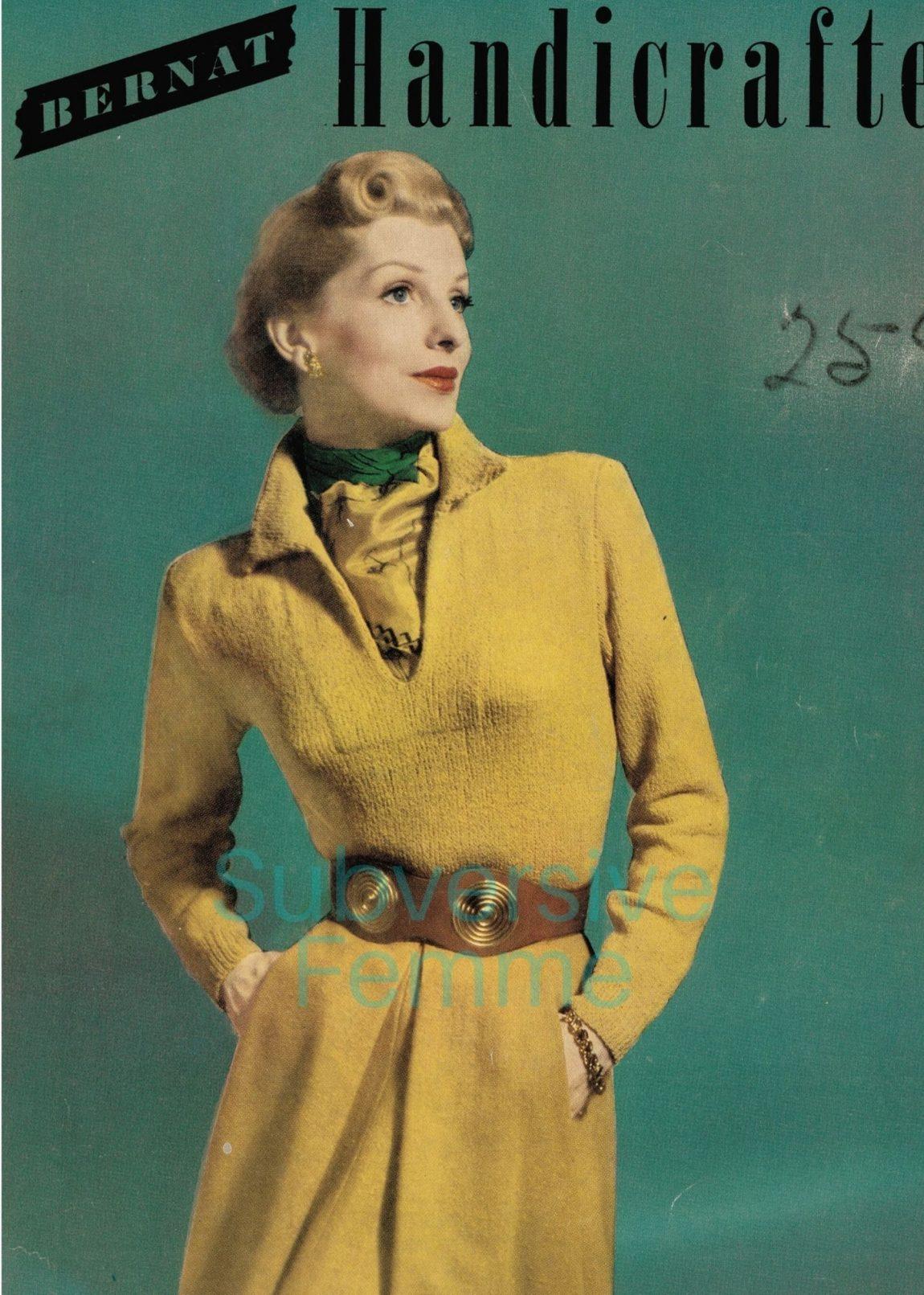 1950s vintage knitting patterns