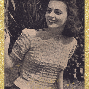 vintage knitting patterns 1940s wwii ww2