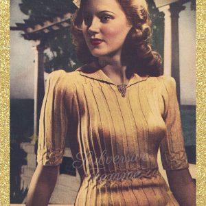vintage knitting pattern 1940s