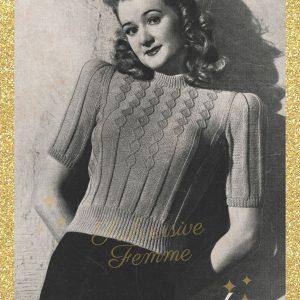 vintage knitting pattern 1940